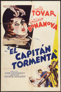"Movie Posters:Adventure, El Capitan Tormenta (MGM, 1936). Spanish Language One Sheet (27"" X41""). Adventure.. ..."
