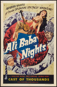 "Chu Chin Chow (Lippert, R-1953). One Sheet (27"" X 41""). Adventure. Re-released as Ali Baba Nights"