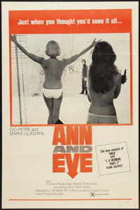 "Ann and Eve (Chevron Pictures, 1970). One Sheet (27"" X 41""). Sexploitation"