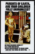 """Movie Posters:Science Fiction, Star Wars Immunization Poster (20th Century Fox, 1979). Poster (14""""X 22""""). Science Fiction.. ..."""