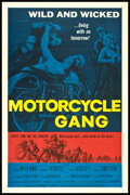 "Movie Posters:Exploitation, Motorcycle Gang (American International, 1957). One Sheet (27"" X41"") Flat Folded. Exploitation.. ..."