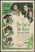 "Movie Posters:Adventure, The End of the River (Universal International, 1948). One Sheet(27"" X 41""). Adventure.. ..."