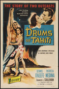 "Movie Posters:Adventure, Drums of Tahiti (Columbia, 1954). One Sheet (27"" X 41"").Adventure.. ..."