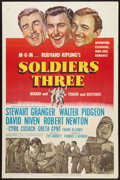 "Movie Posters:Adventure, Soldiers Three (MGM, 1951). One Sheet (27"" X 41""). Adventure.. ..."