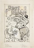 Original Comic Art:Covers, Rags Rabbit #18 Cover Original Art (Harvey, 1954)....