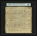 Colonial Notes:Continental Congress Issues, Continental Loan Office Bills of Exchange Third & Fourth Bills-$18 May 11, 1781 Anderson US-95/MD-4A. PMG About Uncirculated ...