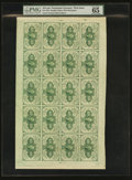 Fractional Currency:First Issue, Fr. 1242 10¢ First Issue Full Sheet of Twenty PMG Gem Uncirculated65 EPQ....