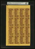 Fractional Currency:First Issue, Fr. 1281 25¢ First Issue Full Sheet of Sixteen PMG Superb Gem Unc67 EPQ....