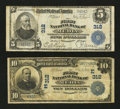 National Bank Notes:Pennsylvania, Media, PA - $5 1902 Plain Back Fr. 598 The First NB Ch. # 312.Media, PA - $10 1902 Plain Back Fr. 624 The First N... (Total: 2notes)