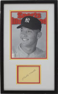 Autographs:Index Cards, Mickey Mantle Vintage Signed Display....