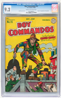 Boy Commandos #15 (DC, 1946) CGC NM- 9.2 Cream to off-white pages