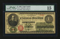 Large Size:Legal Tender Notes, Fr. 16 $1 1862 Legal Tender PMG Choice Fine 15....