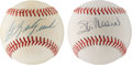 Autographs:Baseballs, Carl Yastrzemski and Stan Musial Single Signed Balls Lot of 2....(Total: 2 items)