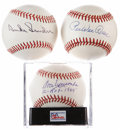 Autographs:Baseballs, Brooklyn Dodgers Single Signed Baseballs Lot of 3.... (Total: 3items)