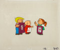 animation art:Production Drawing, A Special Valentine with the Family Circus AnimationProduction Cel Set-Up Original Art (Family Home/Discovery Video,...