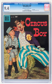 Four Color #785 Circus Boy (Dell, 1957) CGC NM 9.4 Off-white to white pages