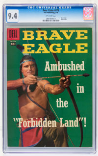 Four Color #879 Brave Eagle (Dell, 1958) CGC NM 9.4 Off-white pages