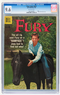 Four Color #975 Fury (Dell, 1959) CGC NM+ 9.6 Off-white pages