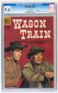 Four Color #1019 Wagon Train (Dell, 1959) CGC NM+ 9.6 Off-white pages
