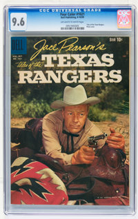 Four Color #1021 Jace Pearson's Tales of the Texas Rangers (Dell, 1959) CGC NM+ 9.6 Off-white to white pages