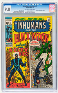 Amazing Adventures #5 Inhumans and the Black Widow (Marvel, 1971) CGC NM/MT 9.8 Off-white to white pages