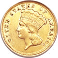 Three Dollar Gold Pieces, 1854-D $3 XF45 ANACS....