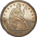 Seated Dollars, 1867 $1 MS62 Prooflike NGC....