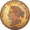 Patterns, 1874 $10 Bickford Ten Dollar, Judd-1375, Pollock-1520, Low R.7,PR64 Red and Brown PCGS....