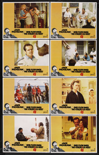 "One Flew Over the Cuckoo's Nest (United Artists, 1975). Lobby Card Set of 8 (11"" X 14""). Drama. Starring Jack..."