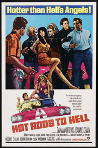 "Hot Rods to Hell (MGM, 1967). One Sheet (27"" X 41""). Cult Classic. Starring Dana Andrews, Jeanne Crain, Mimsy..."