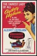 "Movie Posters:Romance, Breakfast At Tiffany's (Paramount, R-1965). One Sheet (27"" X 41""). Romance. Starring Audrey Hepburn, George Peppard, Patrici..."