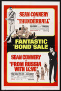"""Movie Posters:James Bond, From Russia with Love/Thunderball Combo (United Artists, R-1968).One Sheet (27"""" X 41""""). James Bond. Starring Sean Connery, ..."""