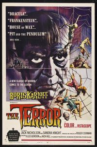 "The Terror (American International, 1963). One Sheet (27"" X 41""). Horror. Starring Boris Karloff, Jack Nichols..."