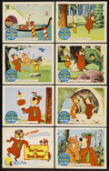 "Movie Posters:Animated, Hey There, It's Yogi Bear (Columbia, 1964). Lobby Card Set of 8 (11"" X 14""). Animated.... (Total: 8)"