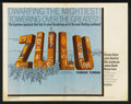 "Movie Posters:War, Zulu (Paramount, 1964). Half Sheet (22"" X 28""). War. StarringStanley Baker, Jack Hawkins, Ulla Jacobsson, James Booth, Mich..."