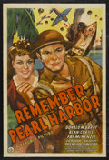 """Movie Posters:War, Remember Pearl Harbor (Republic, 1942). One Sheet (27"""" X 41""""). War.Starring Don 'Red' Barry, Alan Curtis, Fay McKenzie, Sig..."""