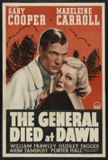 "Movie Posters:Adventure, The General Died at Dawn (Paramount, R-1942). One Sheet (27"" X41""). Adventure. Starring Gary Cooper, Madeleine Carroll, Aki..."