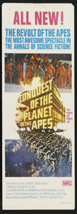 """Movie Posters:Science Fiction, Conquest of the Planet of the Apes (20th Century Fox, 1972). Australian Daybill (13"""" X 30""""). ..."""