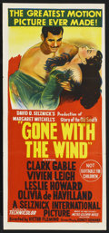 "Movie Posters:Academy Award Winner, Gone with the Wind (MGM, R-1954). Australian Daybill (13"" X 30"")...."