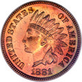 Proof Indian Cents, 1881 1C PR67 Red PCGS....