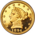 Proof Liberty Quarter Eagles, 1894 $2 1/2 PR66 PCGS. CAC (Gold Label)....