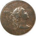 Large Cents, 1796 1C Liberty Cap AU58 PCGS....
