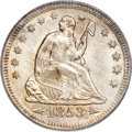 Seated Quarters, 1853-O 25C Arrows and Rays MS64 PCGS....