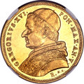 Italy, Italy: Papal States. Gregory XVI gold 10 Scudi 1835R Anno V,...