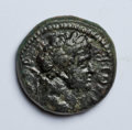 Ancients:Roman Provincial , Ancients: Syria, Decapolis. Gadara. Titus. As Caesar, A.D. 69-79.AE 17 mm (4.44 g, 12 h). Civic year 137 (A.D. 73/4)....