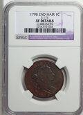 Large Cents, 1798 1C Second Hair Style--Corrosion--NGC. XF Details....