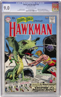 Silver Age (1956-1969):Superhero, The Brave and the Bold #34 Hawkman (DC, 1961) CGC VF/NM 9.0Off-white to white pages....