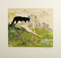 "Original Comic Art:Miscellaneous, Frank Frazetta - ""Golden Girl"" Signed Limited Edition Print#286/2000 (Russ Cochran, 1978). ..."