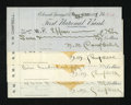 Miscellaneous:Other, Colorado Springs, CO- First National Bank Four Cancelled Checks1898-1901. Three of these checks have revenue imprints. Ve...(Total: 4 notes)
