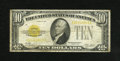 Small Size:Gold Certificates, Fr. 2400 $10 1928 Gold Certificate. Very Good-Fine....